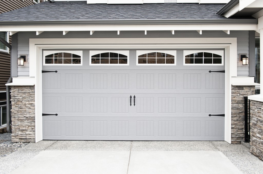 Double garage door installation in Guelph, Ontario